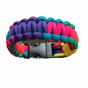 Multi-color Paracord Bracelet with buckle closure